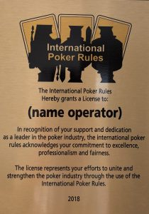 International Poker Rules Award