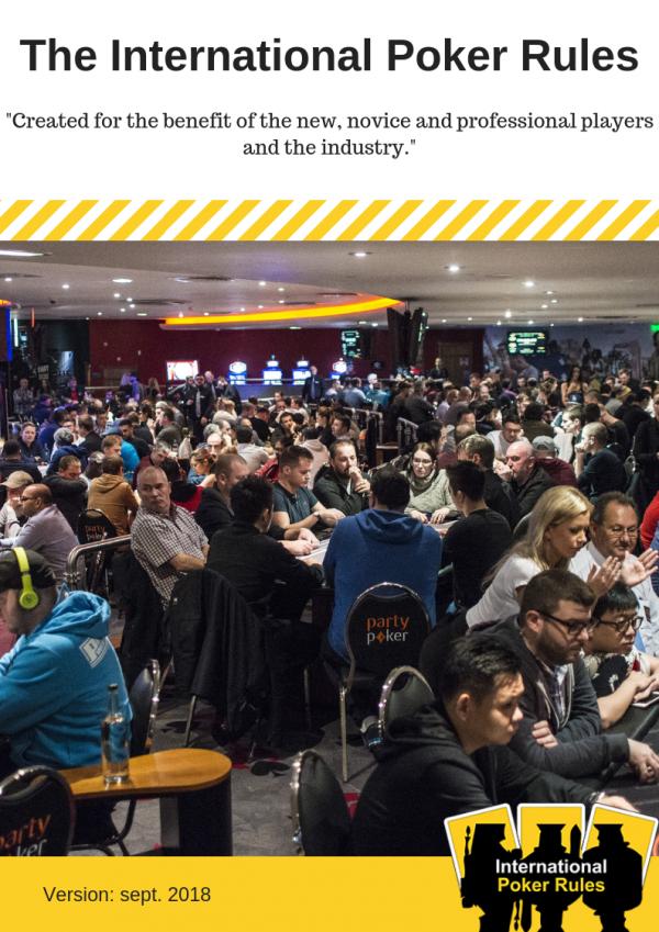 The International Poker Rules sept 2018